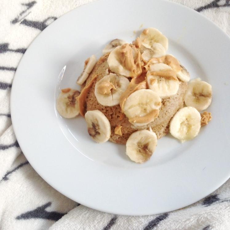 Bowlcake : Banane & Beurre de cacahuète coeur coulant