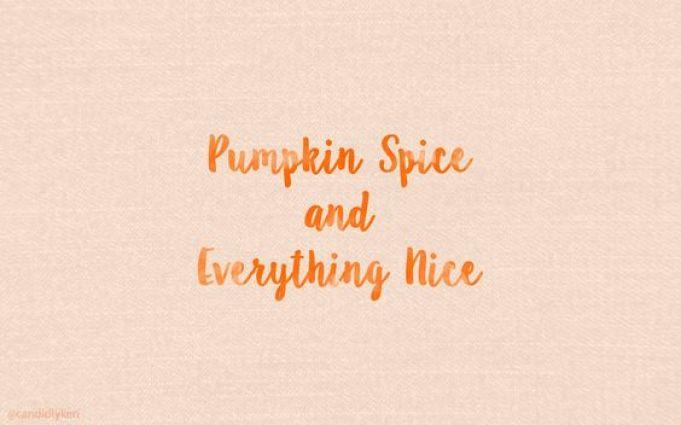 Fond d'écran automne -Pumpkin spice